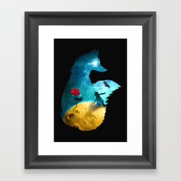 The Most Beautiful Thing (dark version) Framed Art Print