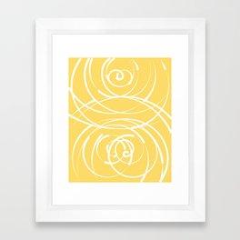 Yellow Flow 2 Framed Art Print