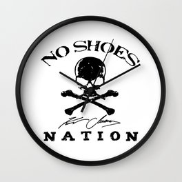 chesney no shoes nation kenny  Wall Clock