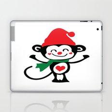 Little Monkey Santa Claus Laptop & iPad Skin
