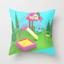 Toy Playground Throw Pillow