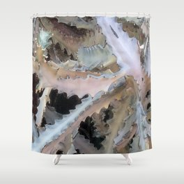 Ghost Cactus Shower Curtain