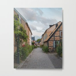 Historic OId Town of Lund, Sweden Metal Print