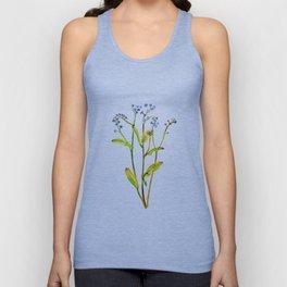 Forget-me-not flowers watercolor art Unisex Tank Top