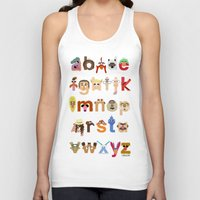 muppet Tank Tops featuring The Great Muppet Alphabet (the sequel) by Mike Boon