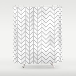 Gasp Gray in Chevron Shower Curtain