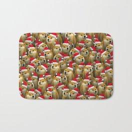 Christmas doge Bath Mat