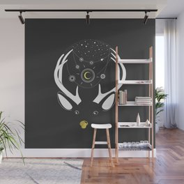 Rudolph and the Moon Wall Mural