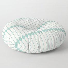 Minimal Geometric - Teal Floor Pillow