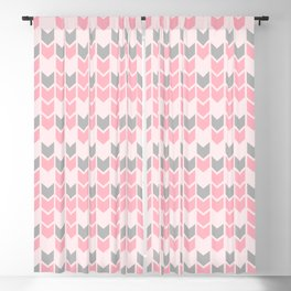 Pink and Grey Directional Arrows Blackout Curtain