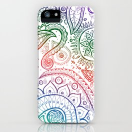 Paisley natural iPhone Case
