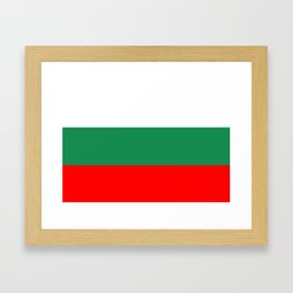 bulgaria country flag Framed Art Print