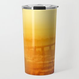 Burning Sunset Through Smog Travel Mug