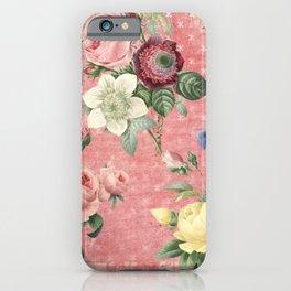 Vintage Rose Garden iPhone Case