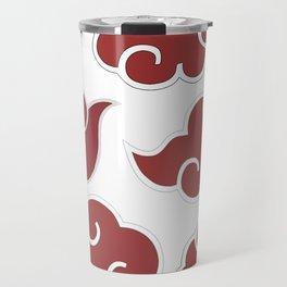 Akatsuki Clouds from Naruto Shippuden Red and White Travel Mug