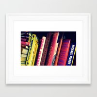 literature Framed Art Prints featuring Literature by Raspberry Diamonds Photography