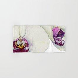 Cream & Fuchsia Phalaenopsis Orchids Hand & Bath Towel