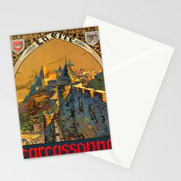 retro Plakat ORLEANS MIDI Carcassonne voyage poster Stationery Cards
