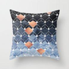 Copper Diamonds Throw Pillow