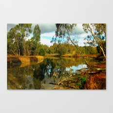 Dusk over a Swamp Canvas Print