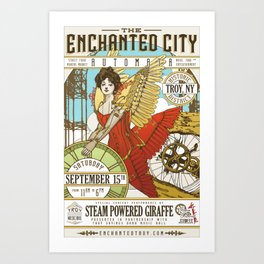 The Enchanted City Poster 2018 Art Print