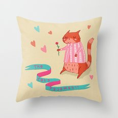 The Cat's Pyjamas Throw Pillow