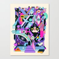 geometric Canvas Prints featuring geometric by yoaz