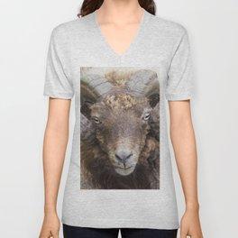 the sheep's horns Unisex V-Neck