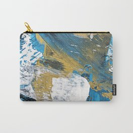 Teal Abstract Carry-All Pouch