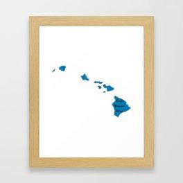 Keep Hawaii Blue! Vote Proud Democrat Liberal! Midterms 2018 Framed Art Print