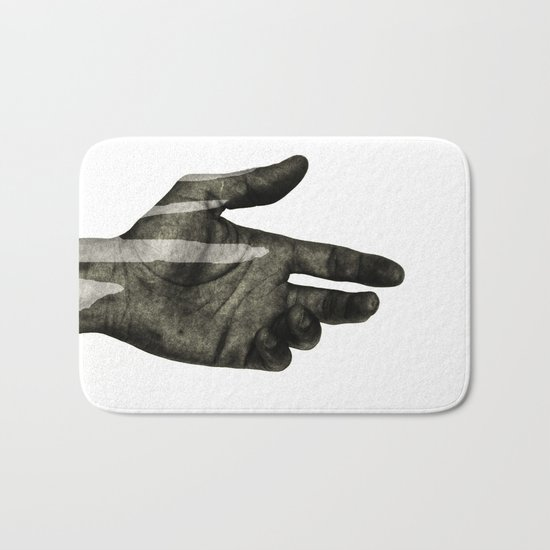 hand black Bath Mat