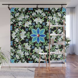 Beaux Arts Folkloric Lily Wall Mural