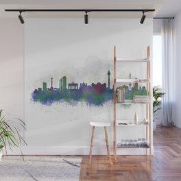 Berlin City Skyline HQ3 Wall Mural