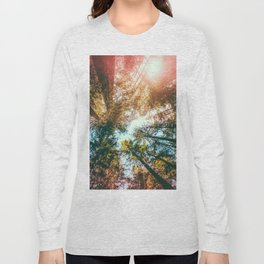 California Redwoods Sun-rays and Sky Long Sleeve T-shirt