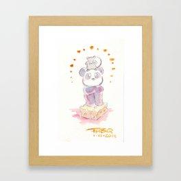 Rat and Panda Framed Art Print