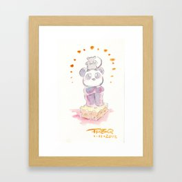 Rat and Panda Framed Art Print