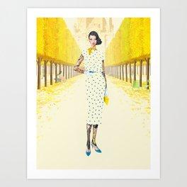 Tuileries Femme Art Print
