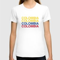 colombia T-shirts featuring COLOMBIA by eyesblau