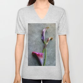 Colorful Callas Unisex V-Neck