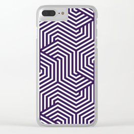 Russian violet - violet - Minimal Vector Seamless Pattern Clear iPhone Case