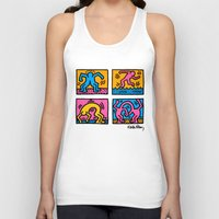 keith haring Tank Tops featuring Keith Haring Pop Shop Quad by cvrcak