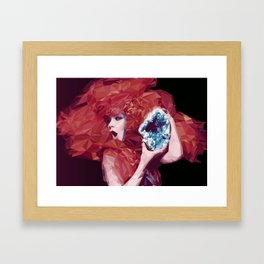 Bjork Low Poly Collection Framed Art Print