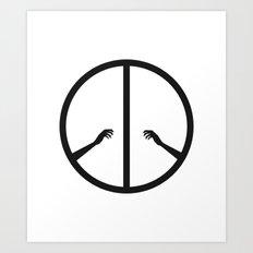 Peace struggle Art Print