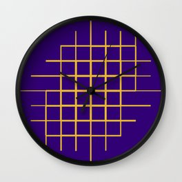 Blue & Gold Matrix Wall Clock