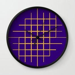 Blue & Gold Matrix Wall Clock