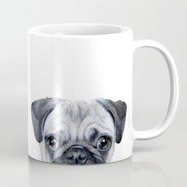 Pug with star, original hand painting design Coffee Mug