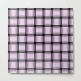 Large Pastel Violet Weave Metal Print