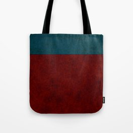 Blue and orange suede Tote Bag