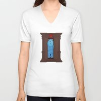 narnia V-neck T-shirts featuring Monster's Wardrobe by Robert Scheribel