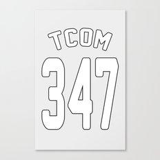 TCOM 347 AREA CODE JERSEY Canvas Print